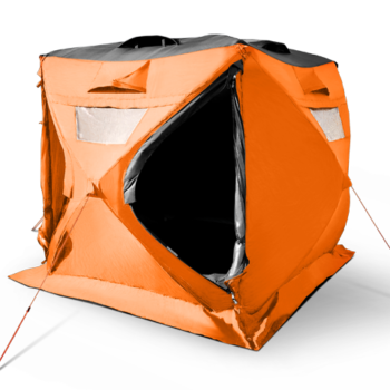 pop up cube tent with solar panels